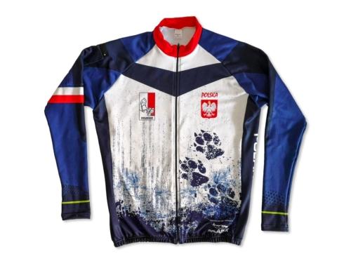 Bluza biegowo-rowerowa z nadrukiem