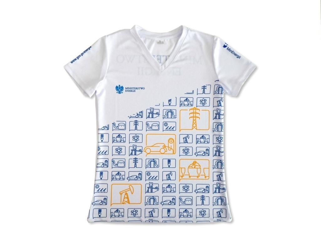 koszulki damskie biegowe z nadrukiem